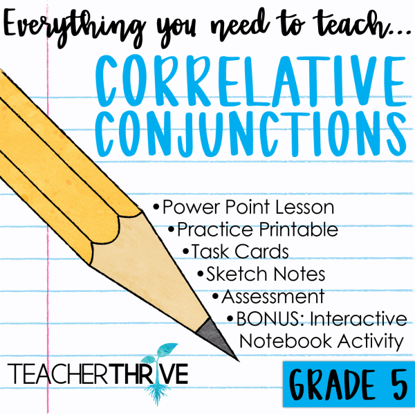 Fifth Grade Grammar: Correlative Conjunctions (With images ...