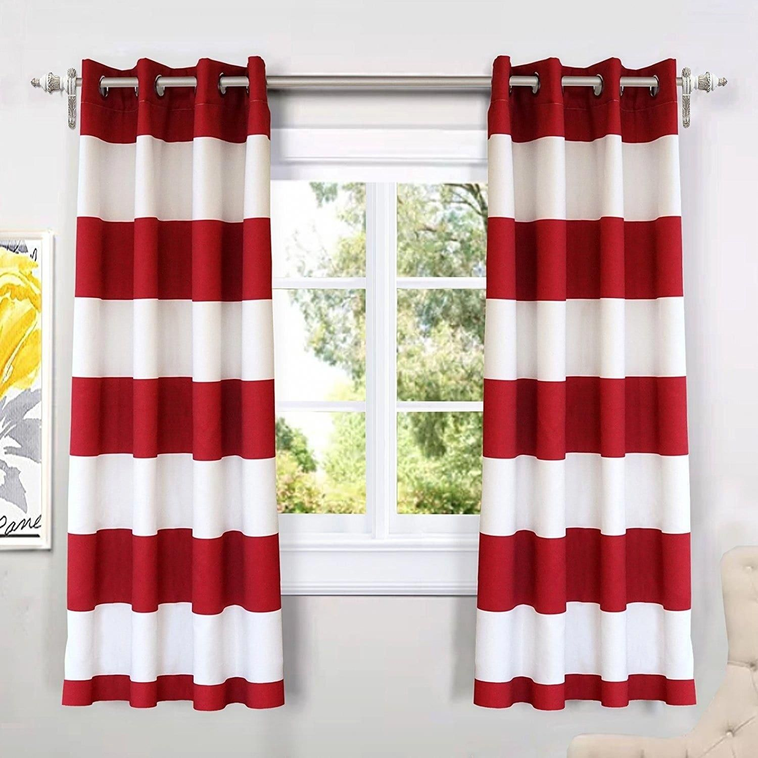 Best 3d Scenery Blackout Curtains Online Red Kitchen Decor Red