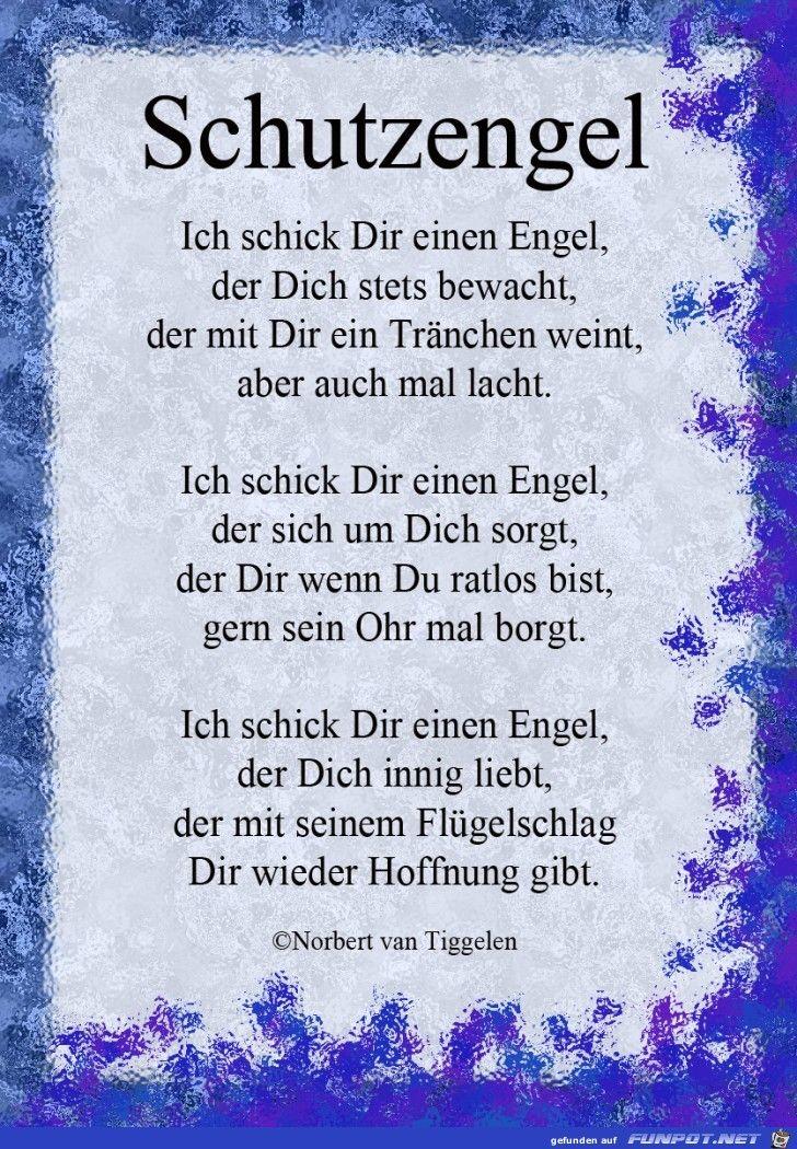 Pin Von Daniela Middelberg Auf Sprüche Schutzengel Sprüche