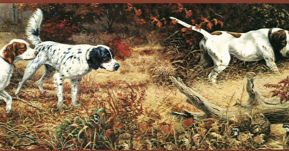 Hunting Bird Dogs Spaniels Wallpaper Border FG35591B