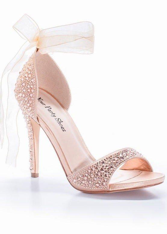 Pink Spitze High Heel Pumps 8CM Riemchen Satin Hochzeit Brautschuhe Abendschuhe