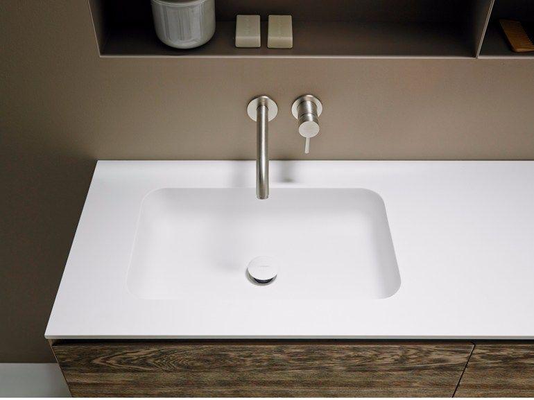 corian washbasin countertop quadro 55 inbani b a t h w a r e pinterest waschtisch. Black Bedroom Furniture Sets. Home Design Ideas