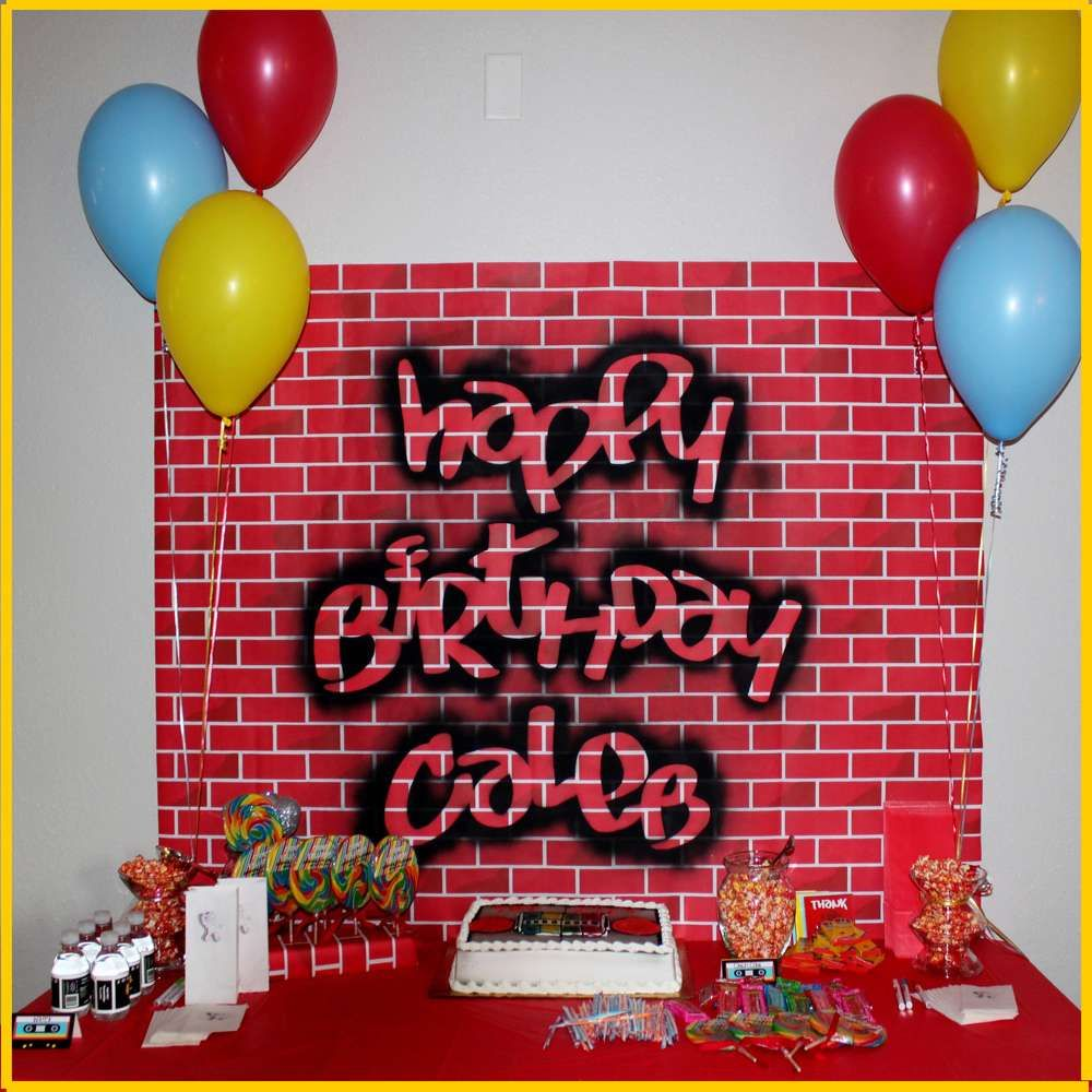 Old School Hip Hop Birthday Party Ideas Photo 1 Of 15 Catch My