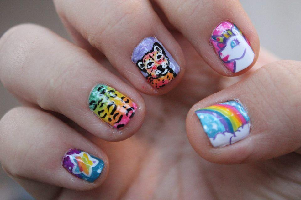 lisa frank nails !!!!!!!