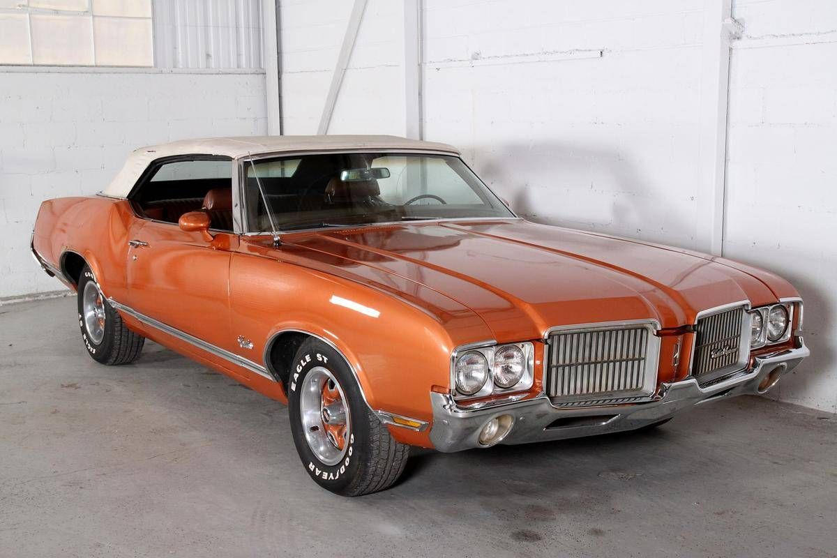 Beautiful Olds Cutlass Convertible In Burnt Orange Oldsmobile