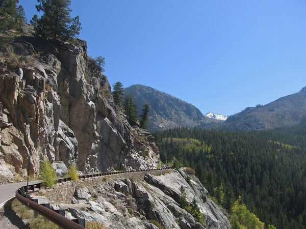 Independence Pass, Colorado.  This is where we became afraid of mountain roads and have never recovered!