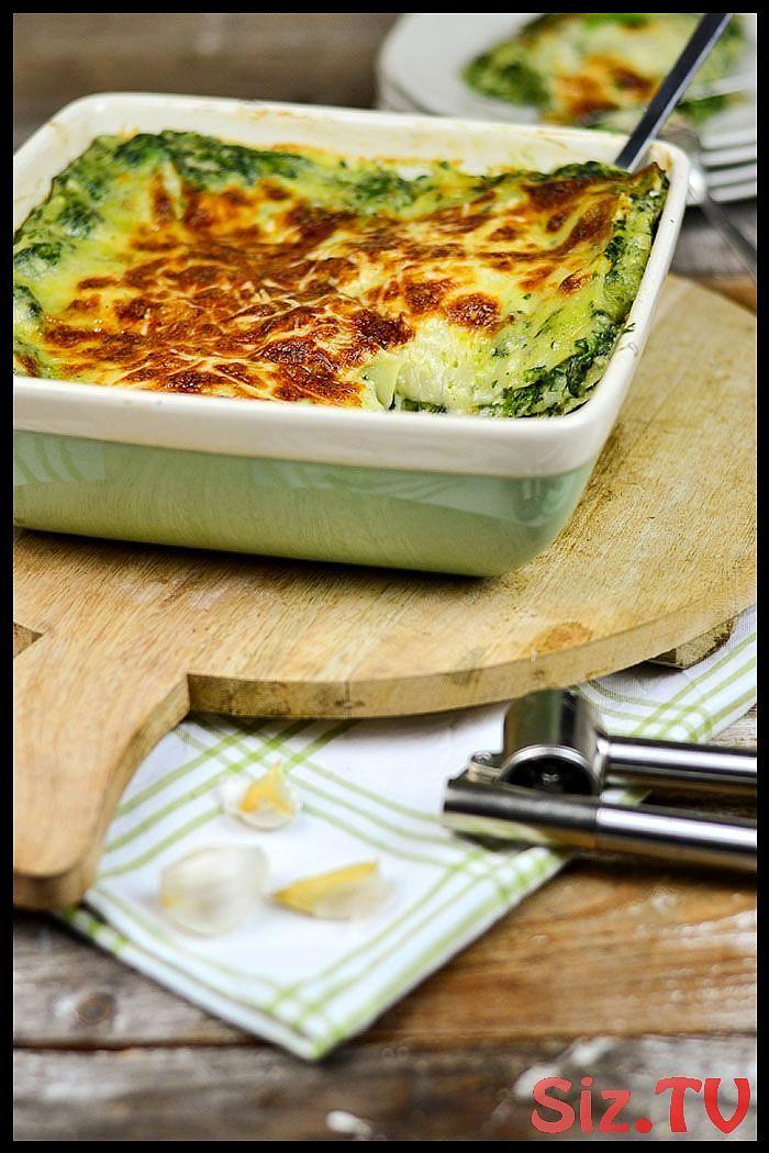 Spinat Lasagne mit Gorgonzola  Soul food vegetarisch Spinat Lasagne mit Gorgonzola  Soul food vegetarisch