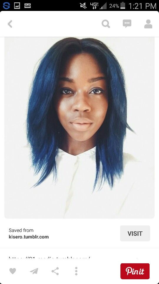 Blue Ombre On Black Women Turquoise Hair Turquoise Hair Color