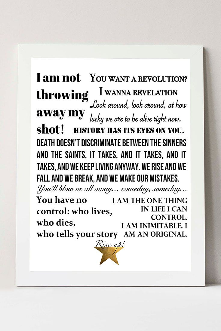graphic regarding Hamilton Lyrics Printable named Hamilton the Musical Offers / Lyrics Poster Print, Broadway