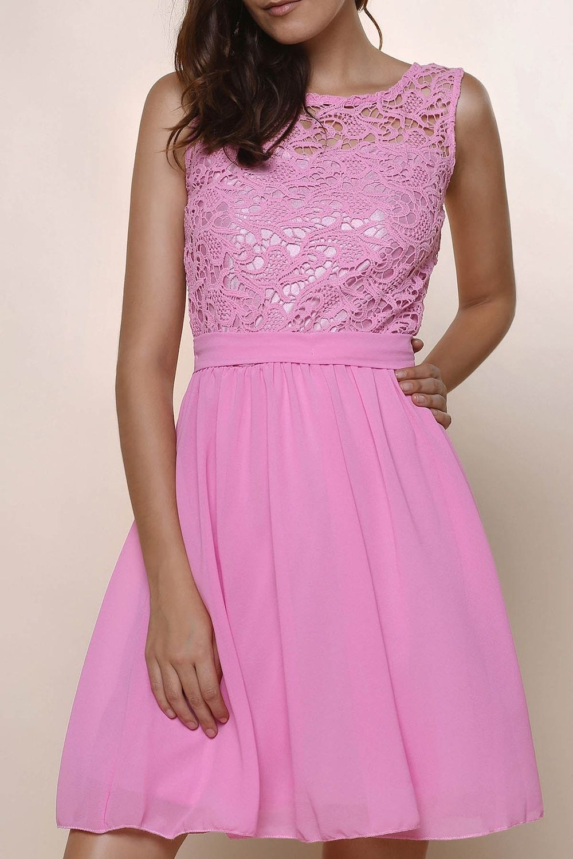 Round Collar Sleeveless Dress