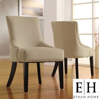 Best Ethan Home Westmont Sandstone Beige Velvet Decorative Nail 400 x 300