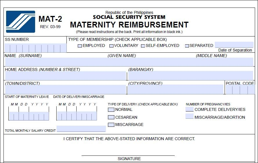 SssMaternityReimbursementMat  This You