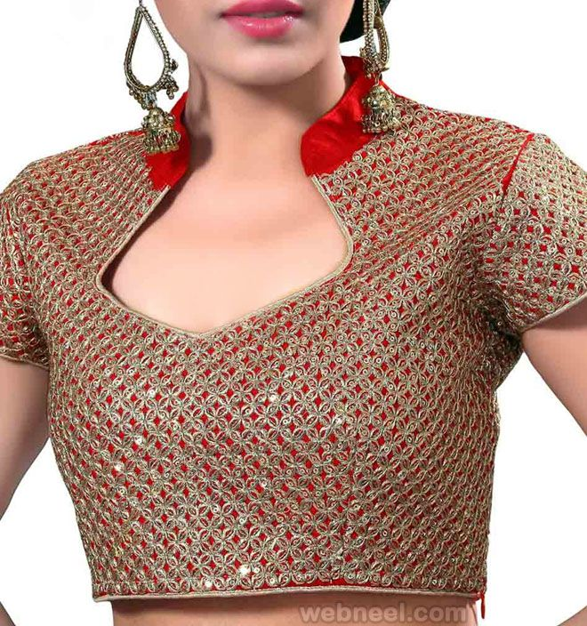 e76860f7681556 Collar Neck Blouse Cutting & Stitching | Tamil (DIY) - YouTube | Blouse  designs in 2019 | Blouse, Blouse neck designs, Blouse neck