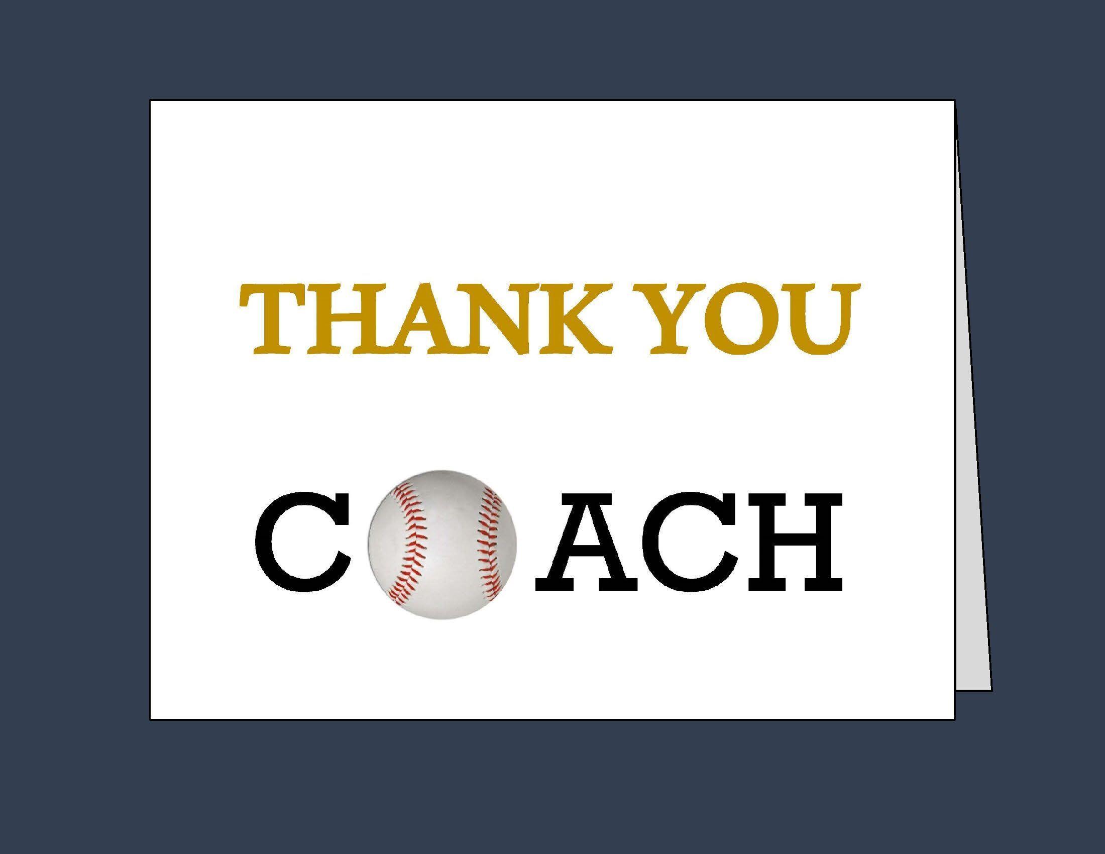 Coach Tbaseball Thankyoucards Coachthankyou