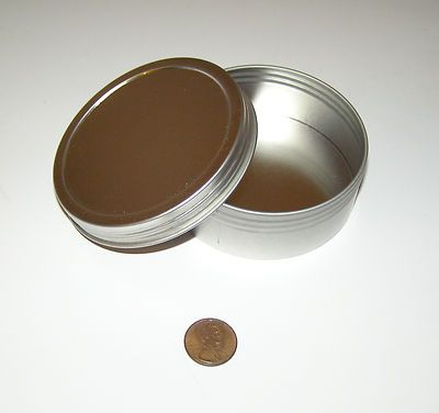 4 oz Round Shallow Survival Tin with Screw Top Lid Can Be Used for Crafts New | eBay