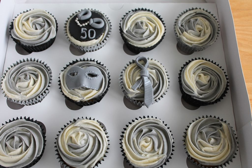 50 shades of grey cupcake toppers cupcakes themed around