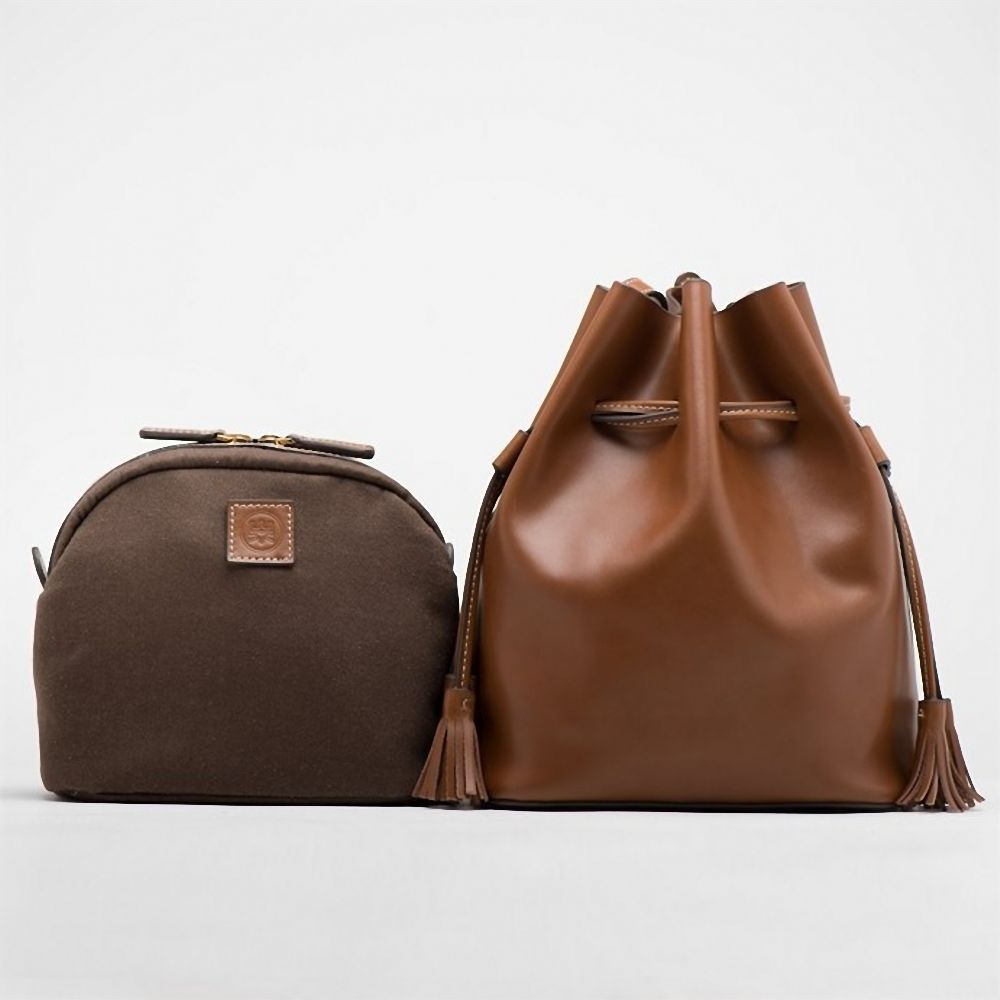 a88b9ba9b3 The product Leather Bucket Bag In Brown is sold by Women s Fashion Bags in  our Tictail store. Tictail lets you create a beautiful online store for  free ...