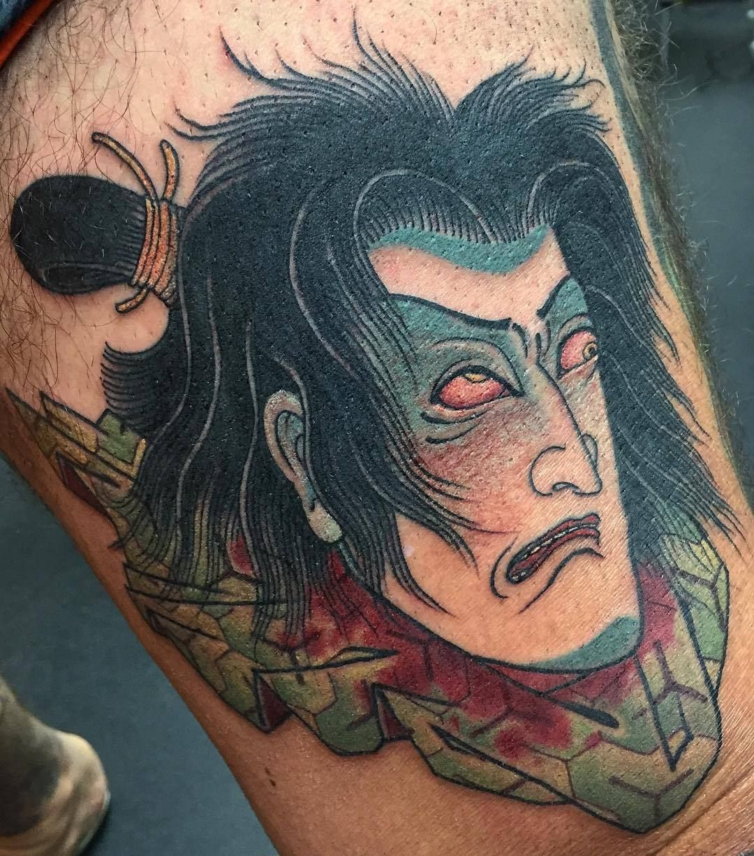 Artist ryan usher portrait tattoo tattoos polynesian