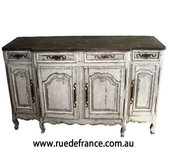 ANTIQUE FRENCH  PROVINCIAL STYLE HAND PAINTED BUFFET Sideboard