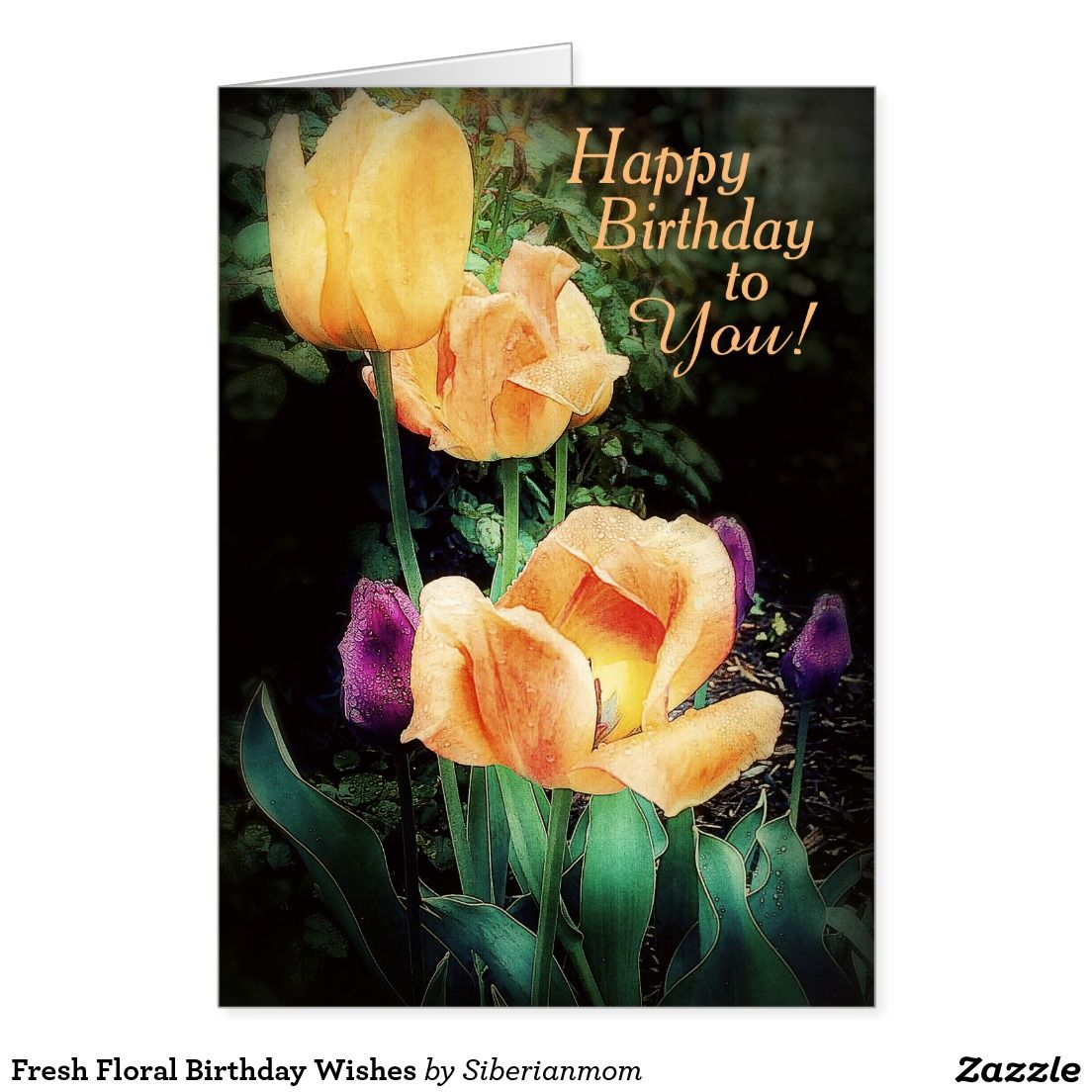 Fresh floral birthday wishes card just for her zazzle gifts fresh floral birthday wishes card izmirmasajfo Images