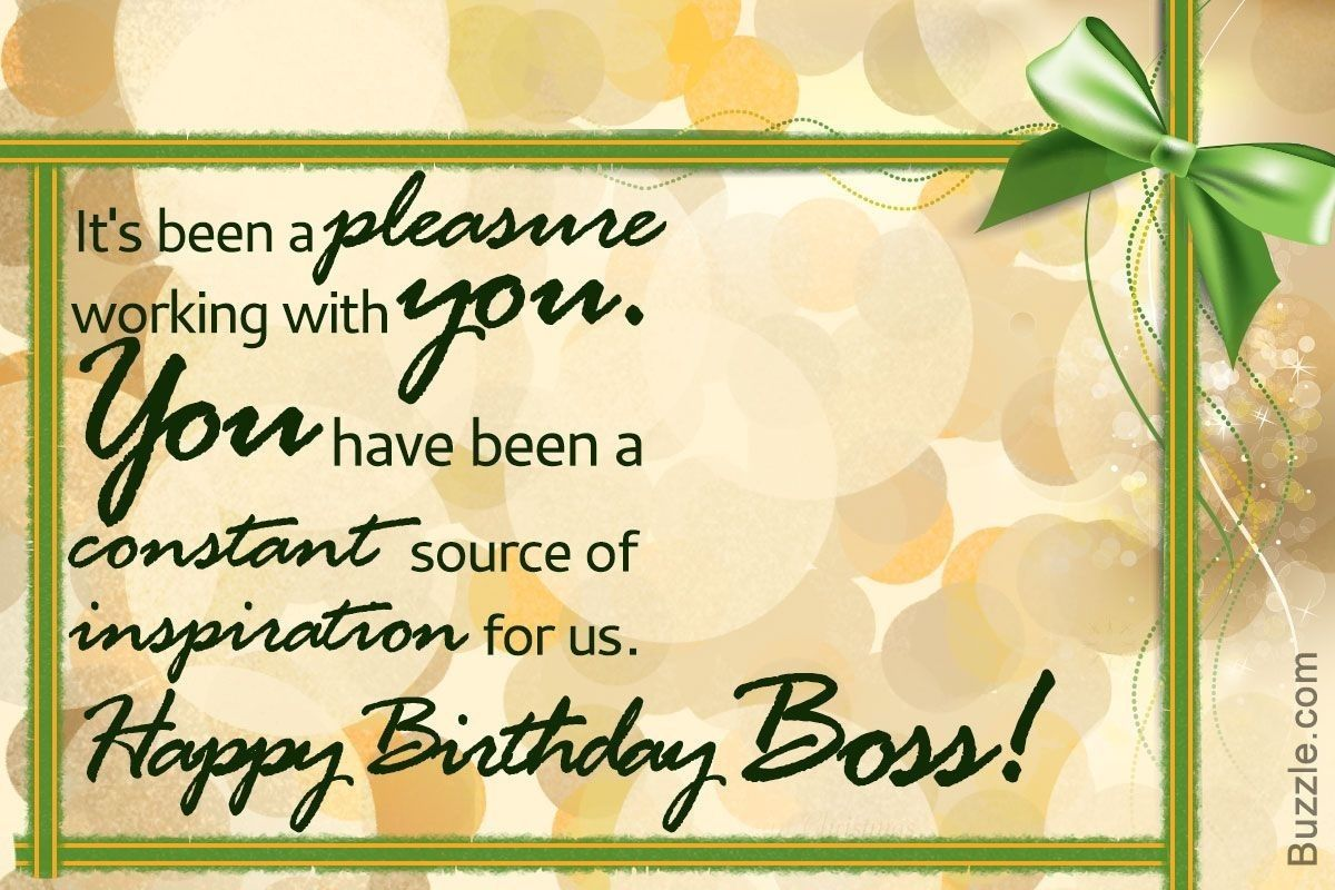 Birthday Wishes For Boss pertaining to Trending This Year