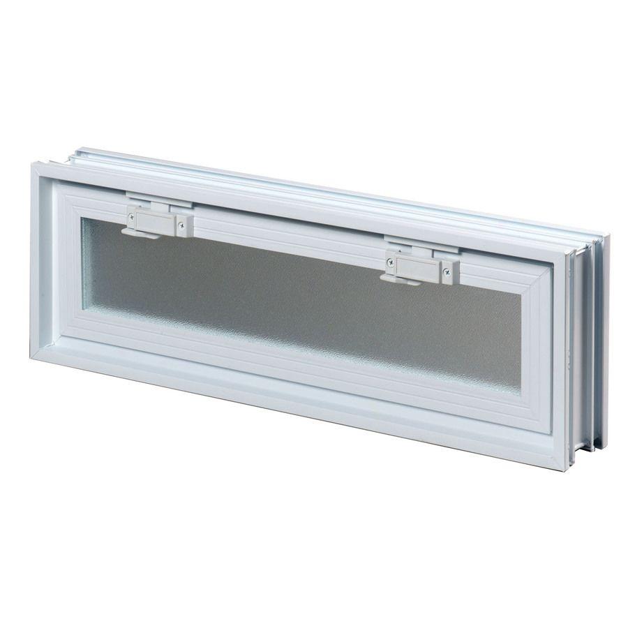 Redi2set Glass Block Vent Common 24 In W X 8 In H X 3 In D Actual 23 25 In W X 7 75 In H X 3 Glass Block Basement Windows Glass Blocks Glass Block Windows