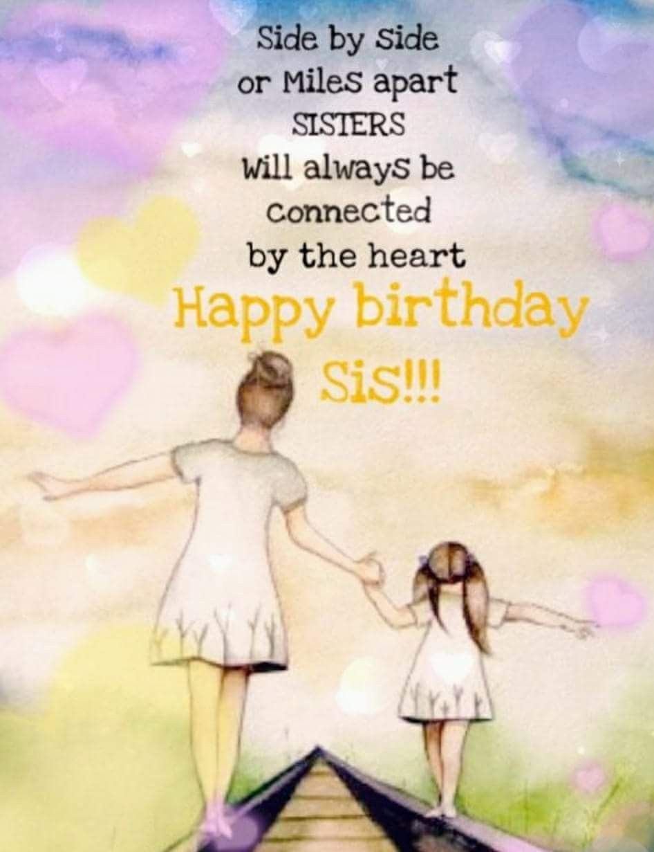 Pin By Portuguese Princess On Special Occasion Messages Happy Birthday Sister Quotes Happy Birthday Sis Birthday Greetings For Sister