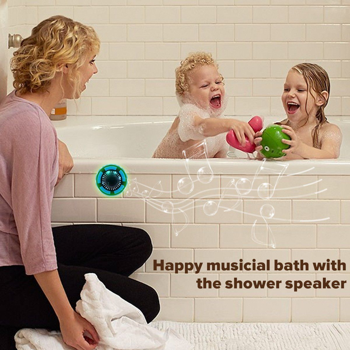 Bluetooth Shower Speaker Waterpoof Shower Radios With Light Wireless Bathroom Speaker With Fm Radios Suc Shower Bluetooth Speaker Bathroom Speakers Kids House