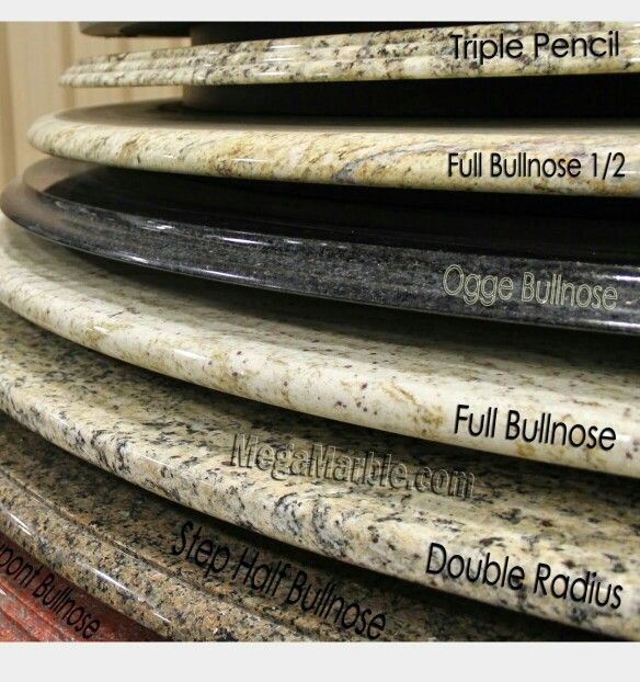 Love The Full Bullnose Edge Stunning The Look Of This Quartz Counter With The Full Bullnose Edge Elegant Granite Countertop Edges Countertops Granite Edges