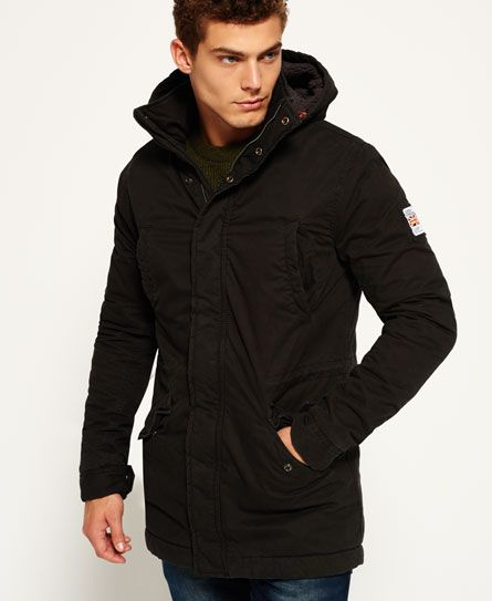 9521d10fd49 Superdry Rookie Military Parka Jacket Black | Things to Wear | Mens ...