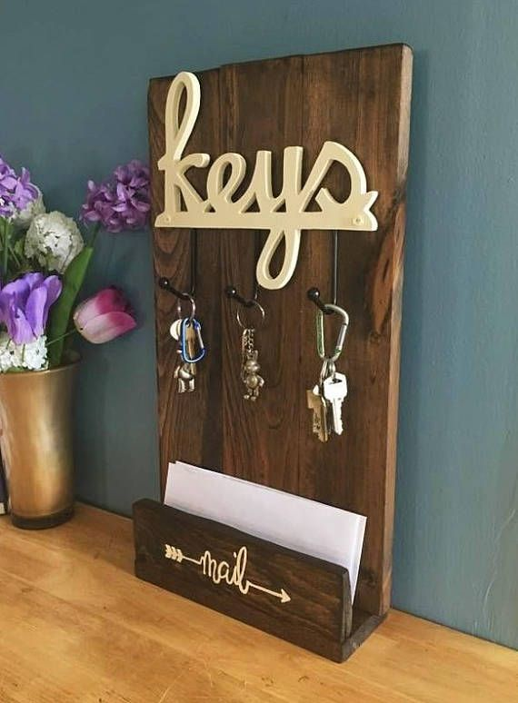Key And Mail Organizer Entryway Organizer Mail Organizer Mail Center Key Holder Wall Or Table Ad Diy Mail Organizer Diy Entryway Mail Organizer Wall