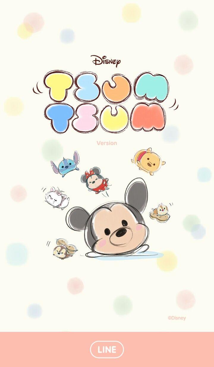Tsum Tsum Line Wallpaper Animasi Lucu