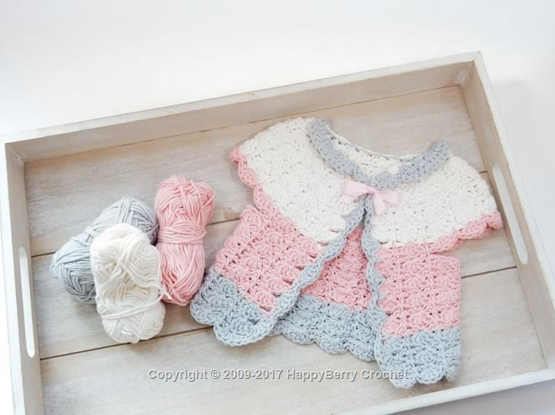 Crochet Candyfloss Baby Cardigan - Free registration required to ...