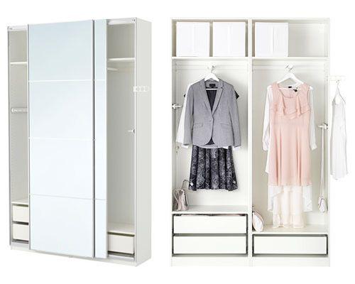 Armario pax blanco en ikea vestidores pax wardrobe - Interior de armarios ikea ...