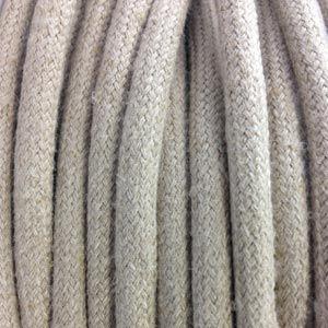 Cable Textile Lin Beige Clair Fil Electrique Tissu Fil Electrique Et Textiles