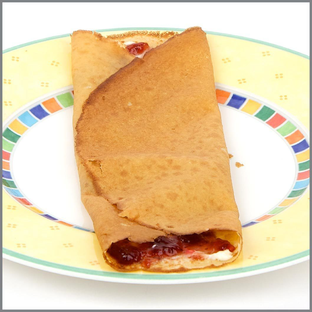 Jam And Cream Cheese Crepe Visual Recipe With