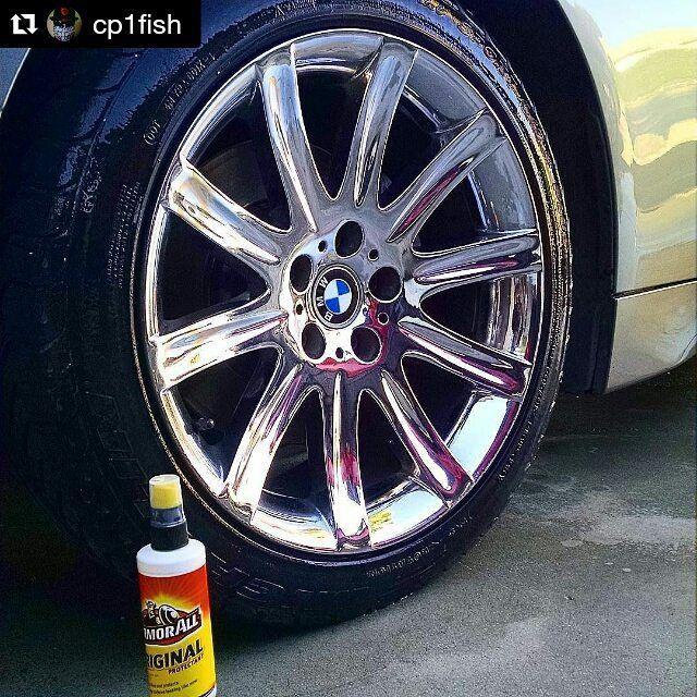 نصائح العناية بالسيارات On Instagram ارمورال ملمع كفرات و بلاستيك Repost Cp1fish Armorall Bmw745li Car Instagram Posts Car Wheel