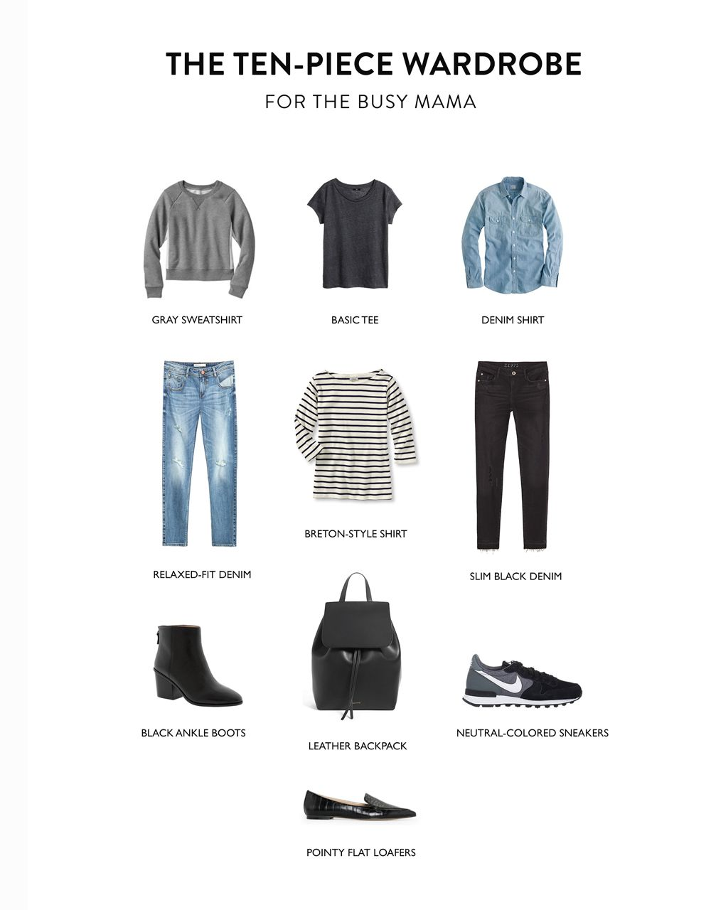 The Ten-Piece Wardrobe For the Busy Mama