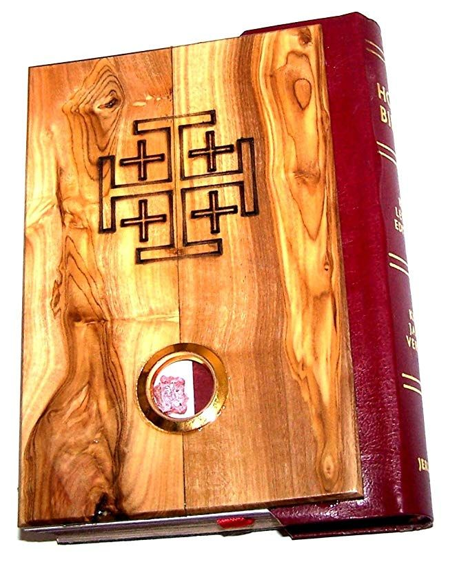 Olive Wood Millennium Bible with 'Incense' Redletter