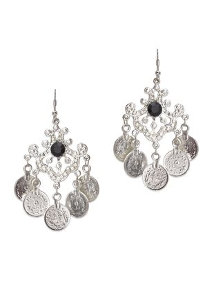 Buy Traditional Silver Coin Chandelier Earrings by Vr Designers ...
