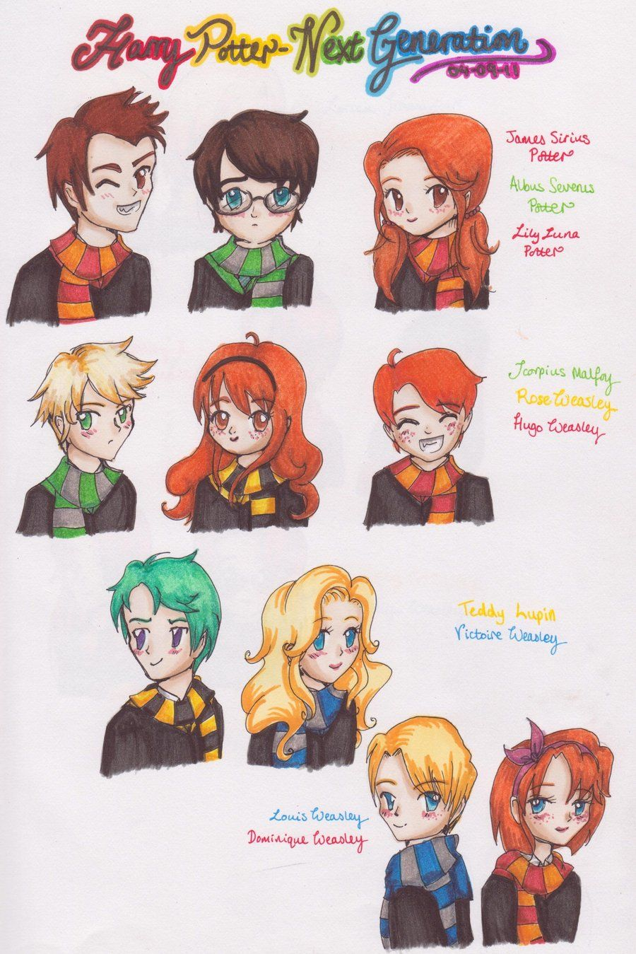 Harry Potter Next Generation1 By Kawaiisweetie Chan On Deviantart Harry Potter Next Generation Harry Potter Fan Art Harry Potter Art