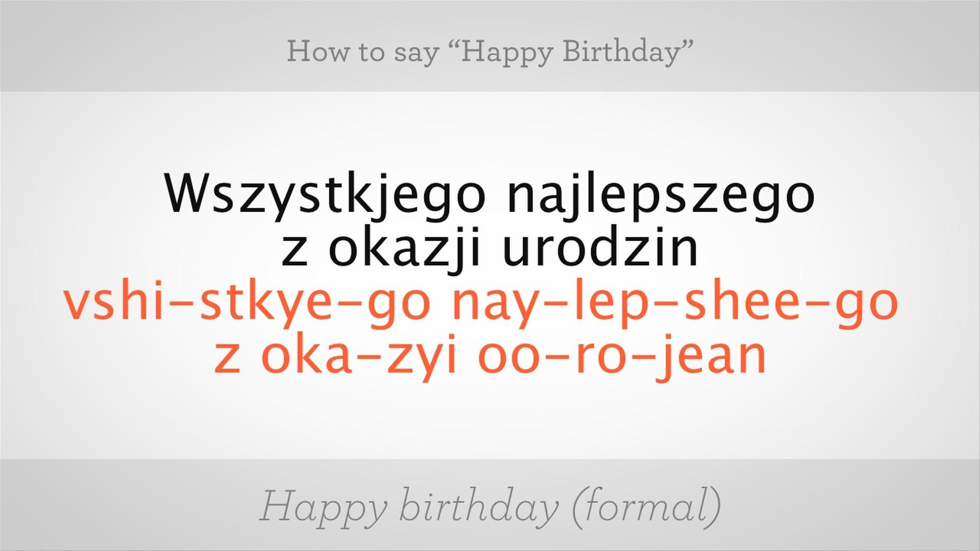 How To Say Happy Birthday In Polish Polish Lessons Languages