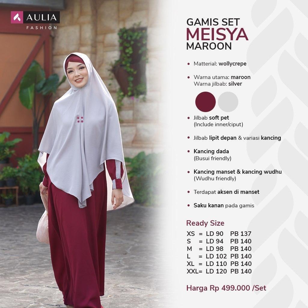 Gamis Syari Simple nan Elegant Terbaru Warna Maroon By AULIA