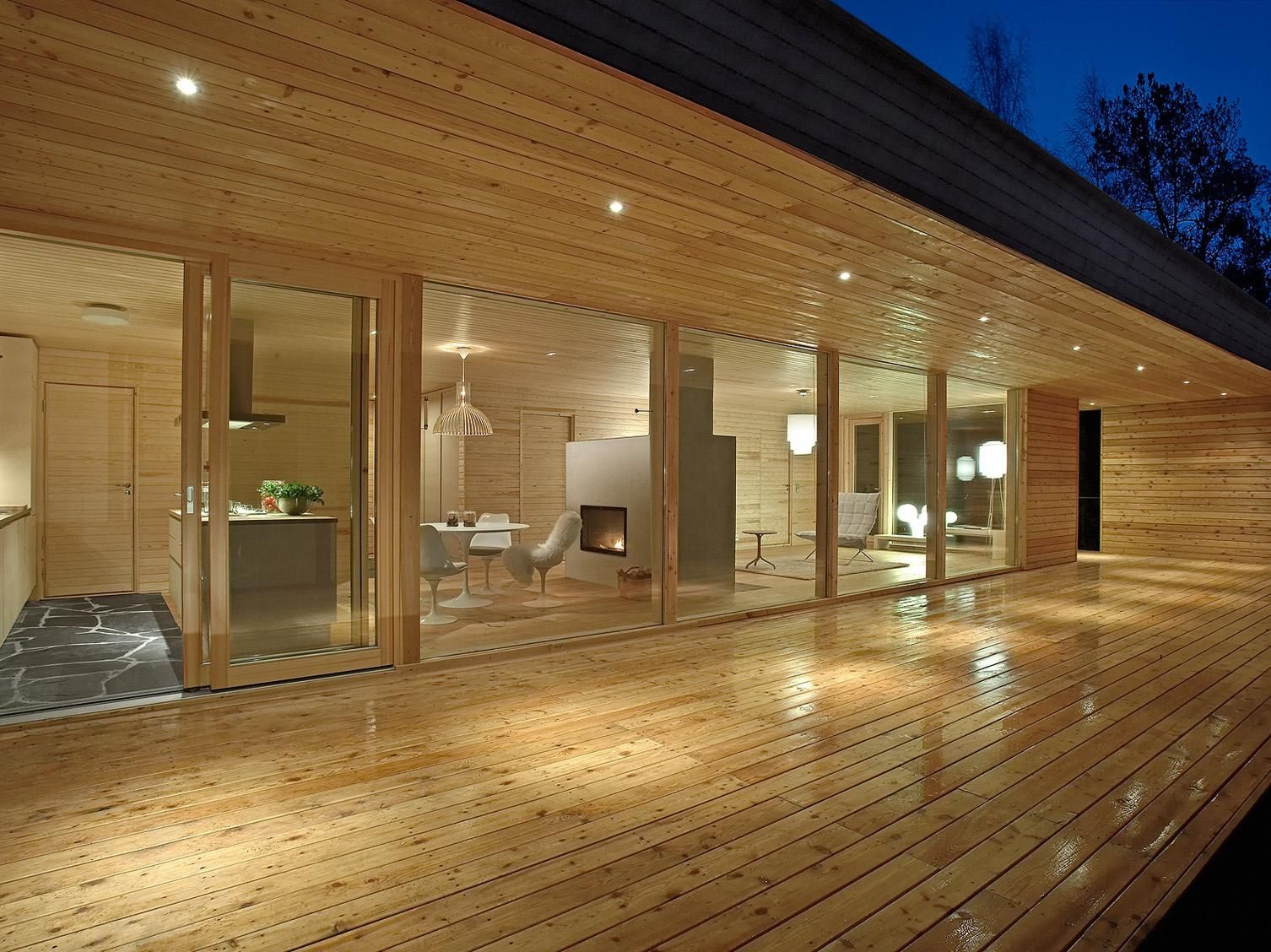 Contemporary Log Cabins Interiors