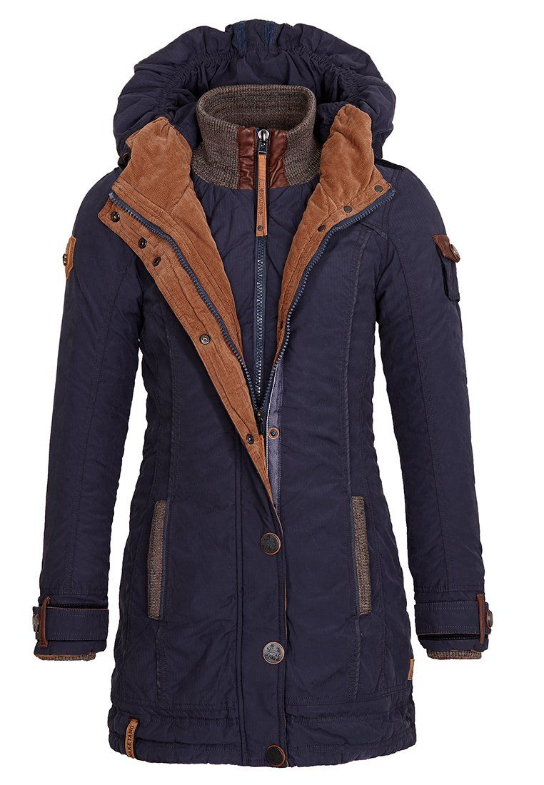 NAKETANO JACKE A Woman Will Rise Up Mantel für Damen Navy Gr