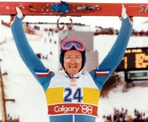 Eddie the Eagle from the Calgary Winter Olympics 1988