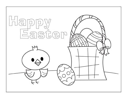 photo regarding Printable Easter Cards to Color identified as Printables Spring is Right here Easter, Easter coloring sheets