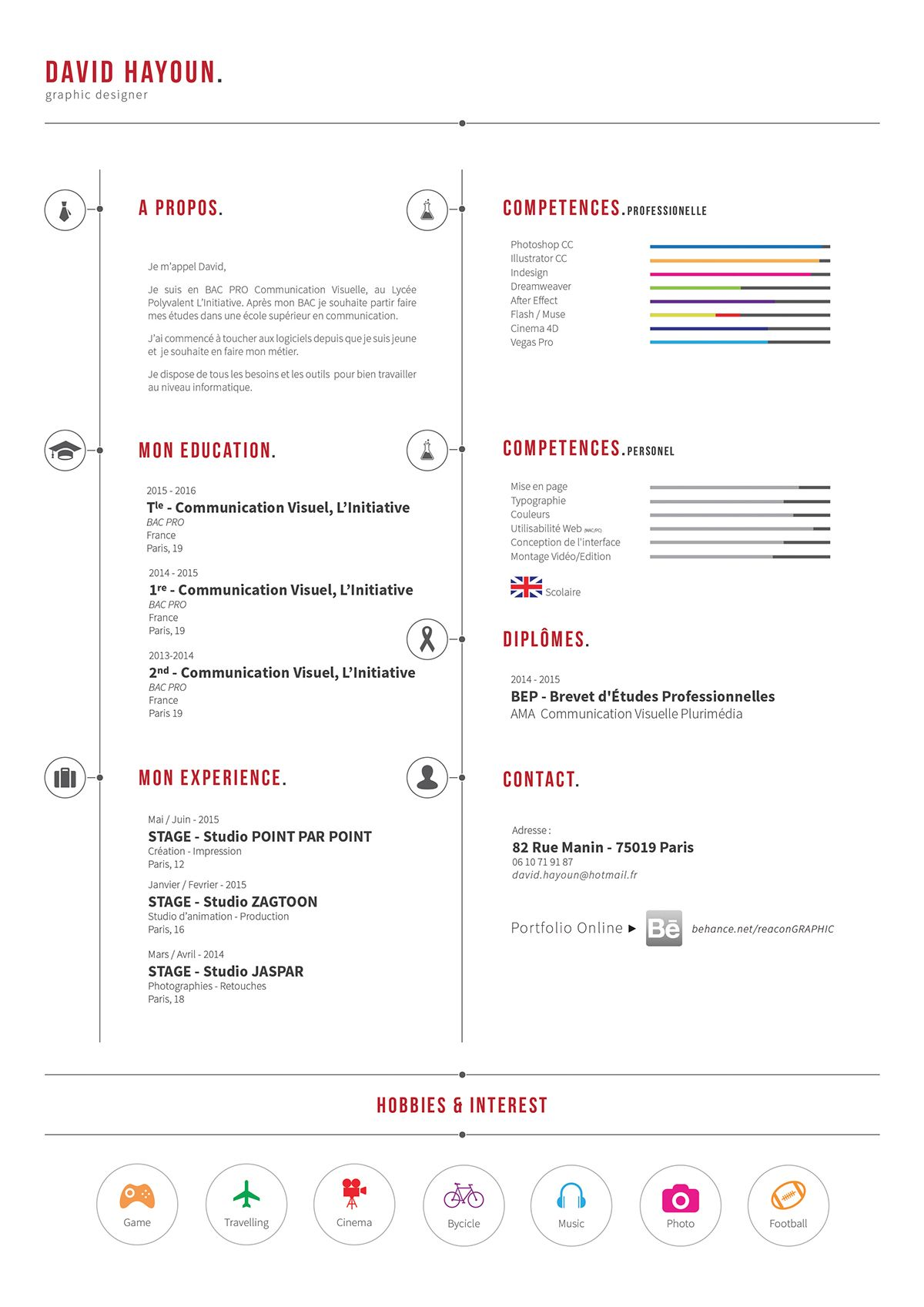Showcase And Discover Creative Work On The World S Leading Online Platform For Creative Industries Resume Resume Cv Cv Design