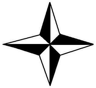 Label Compass Rose Cardinal Directions Intermediate Directions