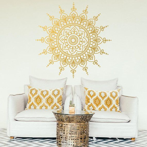 Mandala Large Decal #Wall Décor #Boho Decal #Yoga Poster #Printable ...